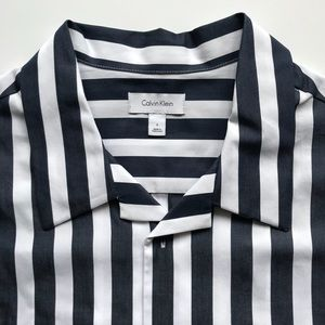 NWT Calvin Klein Striped Button Down